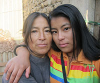 Patricia with her mother