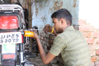 Akaash invested his earnings in his bike repair shop