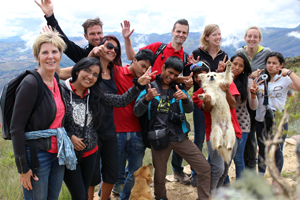 FairMail Peru team on the photography trip into the Peruvian Andes