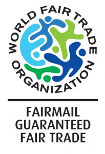 The Fair Trade label, soon to be found on the FairMail cards