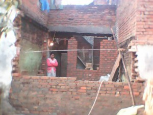 Sandhya's new home under construction