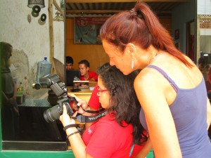 Angeles earning money while learning photography